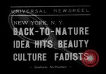 Image of vegetable facial beauty treatment New York United States USA, 1938, second 4 stock footage video 65675056262