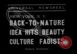 Image of vegetable facial beauty treatment New York United States USA, 1938, second 6 stock footage video 65675056262