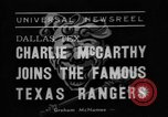 Image of Charlie McCarthy Fort Worth Texas USA, 1938, second 7 stock footage video 65675056266