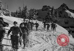 Image of first ski patrol of US Army Mount Rainier Washington USA, 1940, second 5 stock footage video 65675056282