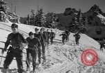 Image of first ski patrol of US Army Mount Rainier Washington USA, 1940, second 7 stock footage video 65675056282