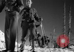 Image of first ski patrol of US Army Mount Rainier Washington USA, 1940, second 12 stock footage video 65675056282
