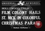 Image of Christmas parade Hollywood Los Angeles California USA, 1940, second 1 stock footage video 65675056286