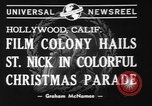 Image of Christmas parade Hollywood Los Angeles California USA, 1940, second 4 stock footage video 65675056286