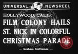 Image of Christmas parade Hollywood Los Angeles California USA, 1940, second 5 stock footage video 65675056286