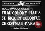 Image of Christmas parade Hollywood Los Angeles California USA, 1940, second 6 stock footage video 65675056286