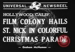 Image of Christmas parade Hollywood Los Angeles California USA, 1940, second 7 stock footage video 65675056286