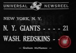 Image of Pro football match New York City USA, 1940, second 5 stock footage video 65675056289