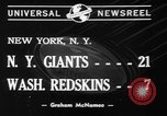 Image of Pro football match New York City USA, 1940, second 8 stock footage video 65675056289