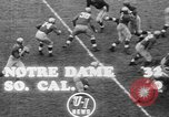 Image of USC versus Notre Dame football South Bend Indiana USA, 1949, second 7 stock footage video 65675056303