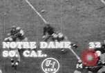 Image of USC versus Notre Dame football South Bend Indiana USA, 1949, second 8 stock footage video 65675056303