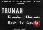 Image of President Harry Truman Washington DC USA, 1951, second 4 stock footage video 65675056306