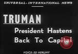 Image of President Harry Truman Washington DC USA, 1951, second 6 stock footage video 65675056306