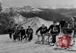 Image of Ski-Bob competition Bavarian Zugspitze Germany, 1951, second 6 stock footage video 65675056307