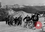 Image of Ski-Bob competition Bavarian Zugspitze Germany, 1951, second 7 stock footage video 65675056307