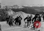 Image of Ski-Bob competition Bavarian Zugspitze Germany, 1951, second 8 stock footage video 65675056307