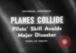 Image of airplanes collide in air New York United States USA, 1965, second 5 stock footage video 65675056318