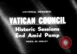 Image of historic Ecumenical Council Vatican City Rome Italy, 1965, second 4 stock footage video 65675056320