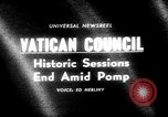 Image of historic Ecumenical Council Vatican City Rome Italy, 1965, second 5 stock footage video 65675056320