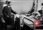 Image of Hitler visits bomb plot victims in hospital East Prussia, 1944, second 8 stock footage video 65675056336