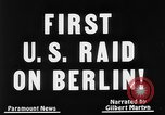 Image of first air raid by United States Berlin Germany, 1944, second 5 stock footage video 65675056364