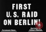 Image of first air raid by United States Berlin Germany, 1944, second 7 stock footage video 65675056364