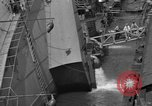 Image of SS Normandie capsized New York United States USA, 1943, second 10 stock footage video 65675056392