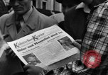 Image of newspaper Kolnischer Kurier Cologne Germany, 1945, second 7 stock footage video 65675056417