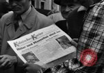 Image of newspaper Kolnischer Kurier Cologne Germany, 1945, second 8 stock footage video 65675056417