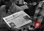 Image of newspaper Kolnischer Kurier Cologne Germany, 1945, second 10 stock footage video 65675056417