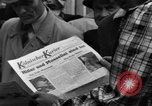 Image of newspaper Kolnischer Kurier Cologne Germany, 1945, second 11 stock footage video 65675056417