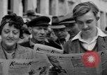 Image of newspaper Kolnischer Kurier Cologne Germany, 1945, second 5 stock footage video 65675056421