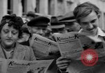 Image of newspaper Kolnischer Kurier Cologne Germany, 1945, second 10 stock footage video 65675056421