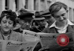 Image of newspaper Kolnischer Kurier Cologne Germany, 1945, second 12 stock footage video 65675056421