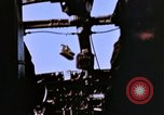 Image of Crew members seen at their respective positions inside a B-26 bomber France, 1945, second 10 stock footage video 65675056442