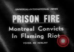Image of prisoners set jail on fire United States USA, 1962, second 1 stock footage video 65675056482