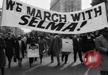 Image of Civil Rights march from Selma to Montgomery Alabama United States USA, 1965, second 4 stock footage video 65675056501