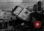 Image of Buildings collapse from flood erosion United States USA, 1965, second 4 stock footage video 65675056505