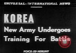 Image of South Korean Army training Seoul Korea, 1951, second 1 stock footage video 65675056536