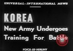 Image of South Korean Army training Seoul Korea, 1951, second 2 stock footage video 65675056536