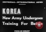 Image of South Korean Army training Seoul Korea, 1951, second 4 stock footage video 65675056536
