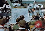 Image of pilots briefed Germany, 1945, second 9 stock footage video 65675056547