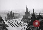 Joseph Stalin and other Soviet leaders review parade on Red Square in Moscow, USSR