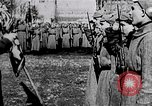 Image of Leon Trotsky presents colors to new unit of Red Guards Russia, 1917, second 2 stock footage video 65675056579