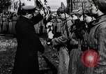 Image of Leon Trotsky presents colors to new unit of Red Guards Russia, 1917, second 8 stock footage video 65675056579