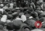 Image of Vladimir Lenin addresses crowd during revolution Russia, 1917, second 7 stock footage video 65675056589