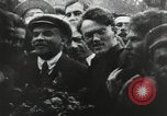 Image of Bolshevik leader Vladimir Lenin celebrated at Red Square Moscow Russia Soviet Union, 1917, second 2 stock footage video 65675056594