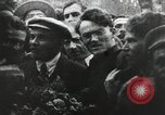 Image of Bolshevik leader Vladimir Lenin celebrated at Red Square Moscow Russia Soviet Union, 1917, second 3 stock footage video 65675056594