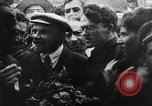 Image of Bolshevik leader Vladimir Lenin celebrated at Red Square Moscow Russia Soviet Union, 1917, second 4 stock footage video 65675056594