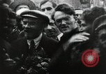 Image of Bolshevik leader Vladimir Lenin celebrated at Red Square Moscow Russia Soviet Union, 1917, second 5 stock footage video 65675056594